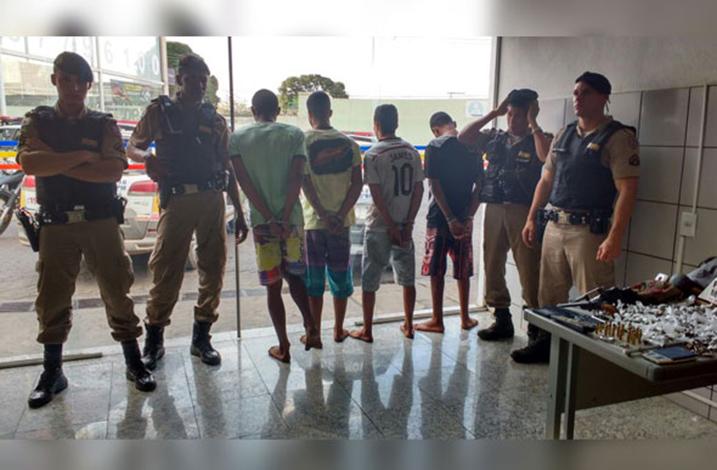 PM prende quadrilha suspeita de vários crimes na cidade
