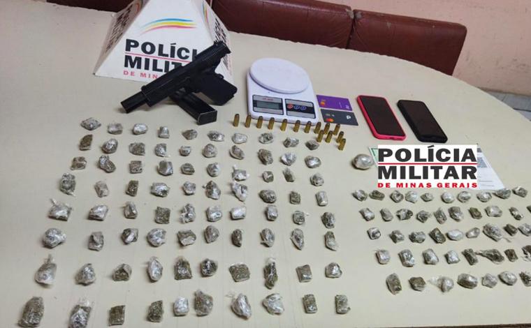 Duas pessoas são presas e grande quantidade de drogas apreendidas em Prudente de Morais