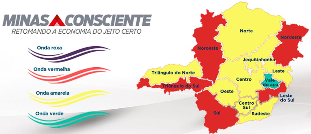 Minas Consciente: macrorregião Centro, onde Sete Lagoas está incluída, avança para onda amarela