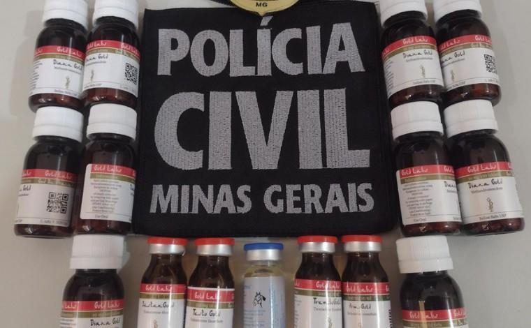 Polícia Civil apreende frascos de anabolizantes em residência do bairro Titamar em Sete Lagoas