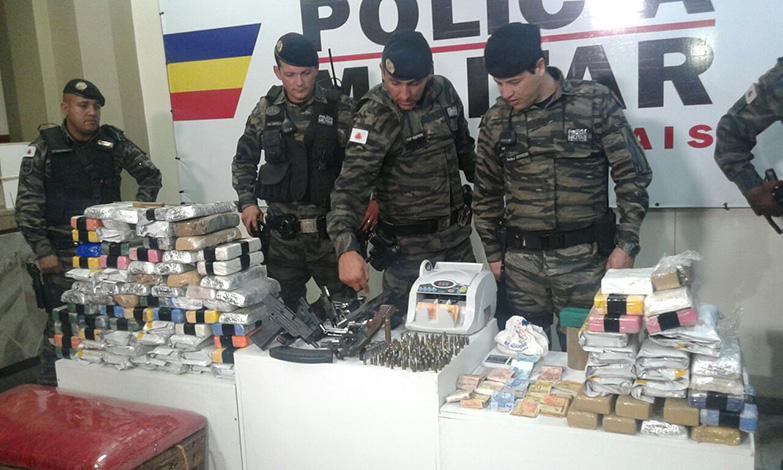 PM apreende grande quantidade de drogas que circulariam na Região Metropolitana de BH