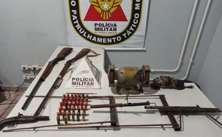 Homem é preso suspeito de fabricar arma de fogo e armadilha para capturar animais em Capim Branco