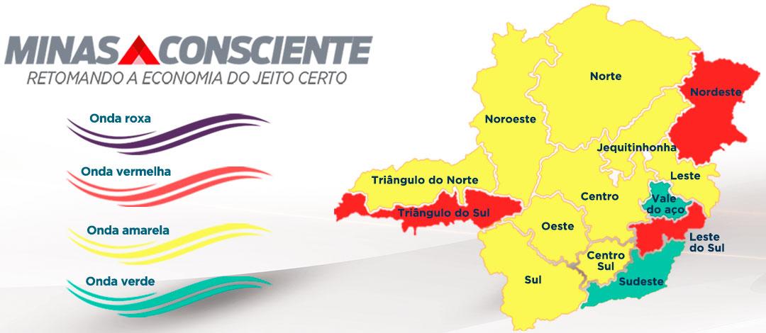 Minas Consciente: Estado mantém cenário favorável com queda de 11% na incidência da Covid-19