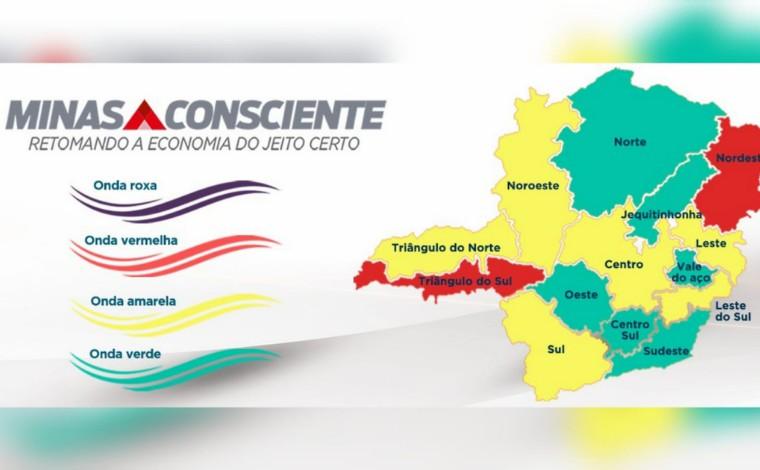 Minas tem queda de 9% na taxa de incidência da Covid e 4 macrorregiões avançam para a onda verde