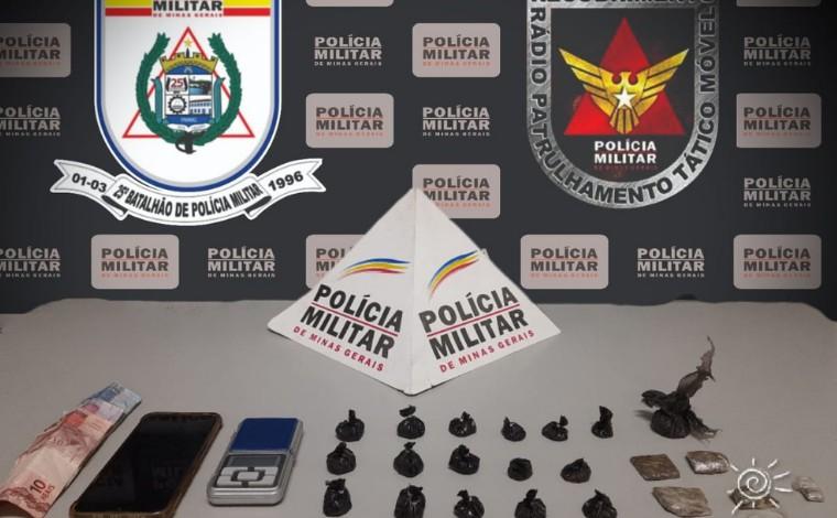 Suspeito de tráfico de drogas é preso com maconha e cocaína no bairro das Industrias em Sete Lagoas