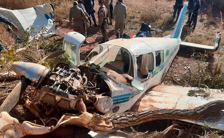 Sem combustível, avião cai e quatro pessoas ficam feridas no Mato Grosso