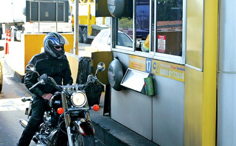 Motocicletas terão isenção de pedágio em cinco rodovias federais que cortam Minas Gerais