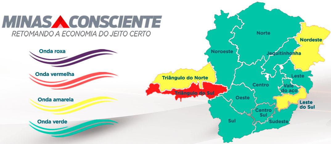 Minas Consciente: Leste avança para onda verde e Sete Lagoas segue na onda amarela do programa