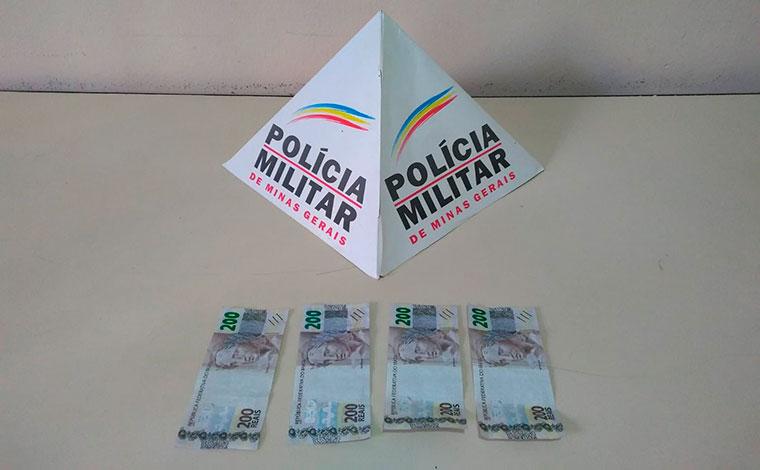 Grupo é preso suspeito de passar notas falsas em comércios de Cordisburgo