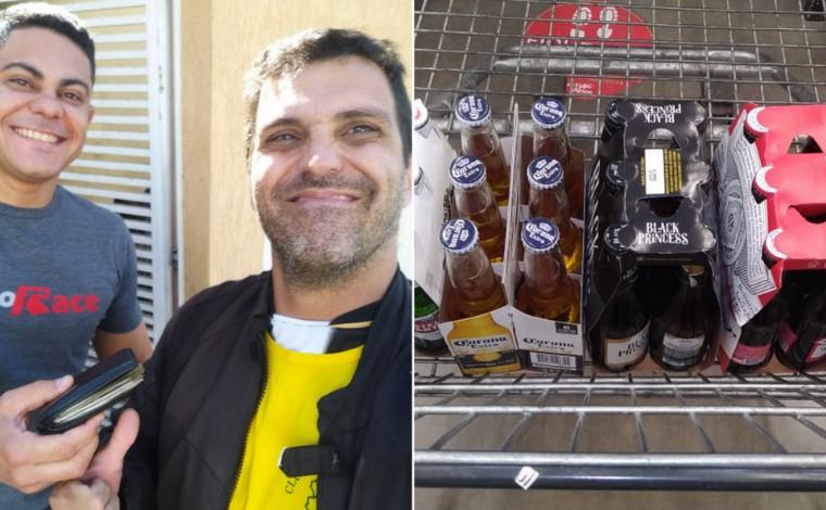 Homem devolve carteira encontrada na rua e recebe cervejas como recompensa em Contagem
