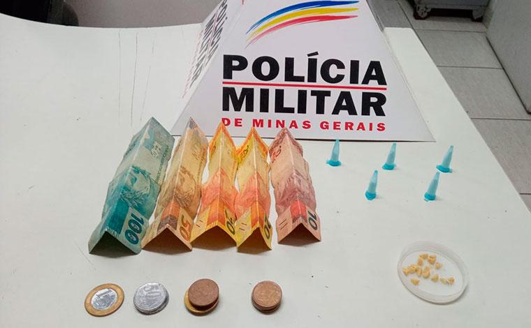 Polícia Militar prende suspeito de tráfico de drogas em Capim Branco