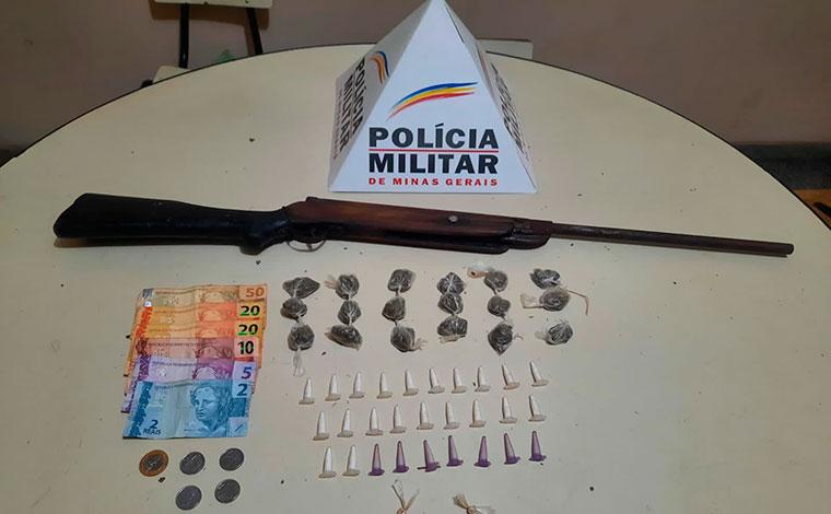 Arma de fogo e grande quantidade de drogas são apreendidas em Matozinhos