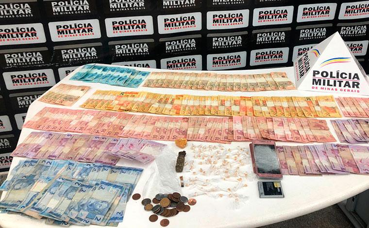 PM apreende grande quantidade de drogas e prende duas pessoas em Sete Lagoas