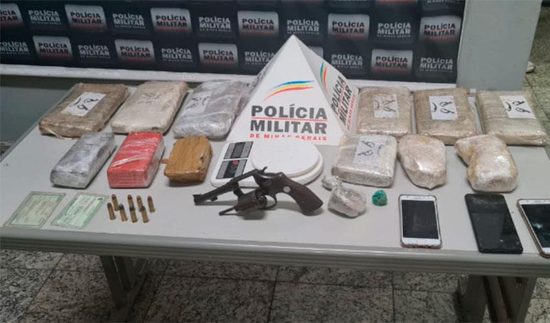 Foragido da justiça e outros 3 suspeitos são presos por tráfico de drogas no Itapuã, em Sete Lagoas