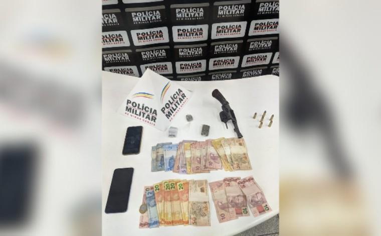 Três pessoas são presas por porte ilegal de arma de fogo e tráfico de drogas em Sete Lagoas