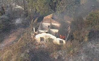 Incêndio atinge casa e galpão dentro da Embrapa em Sete Lagoas