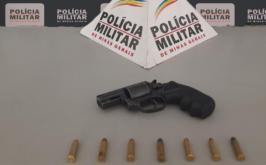 Homem é preso por transitar portando arma de fogo no bairro Esperança em Sete Lagoas
