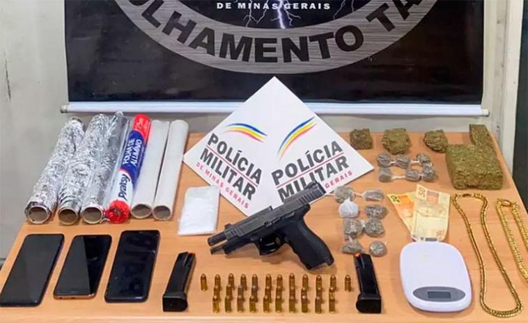 Mulher e integrante de facção criminosa de Sete Lagoas são presos por tráfico de drogas em Betim