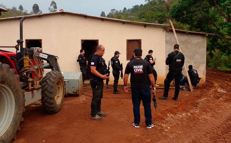 Suspeito de homicídio e roubo é morto durante cumprimento de mandado pela Polícia Civil em Minas