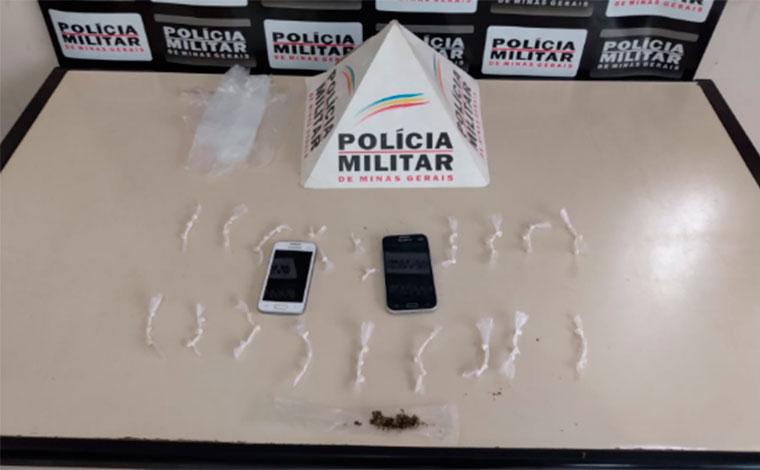 Polícia Militar apreende drogas e prende suspeito de tráfico no bairro Dom Cirilo em Paraopeba