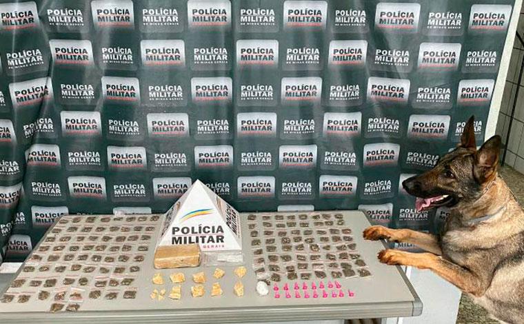 PM apreende grande quantidade de drogas e prende suspeitos de tráfico em Sete Lagoas