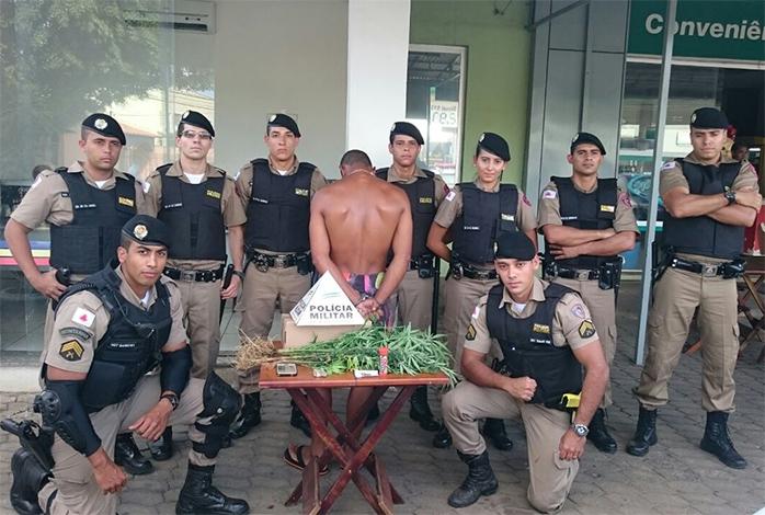 Homem é preso por cultivar pés de maconha no Boa Vista