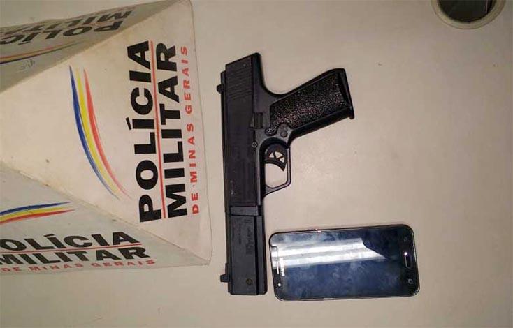 Homem é preso em Paraopeba após assaltar usando arma de brinquedo