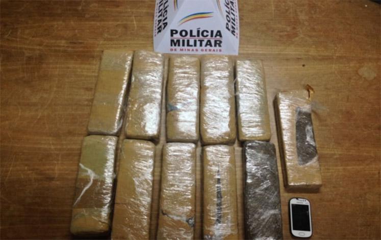 Polícia prende trio transportando 11 kg de maconha em Matozinhos