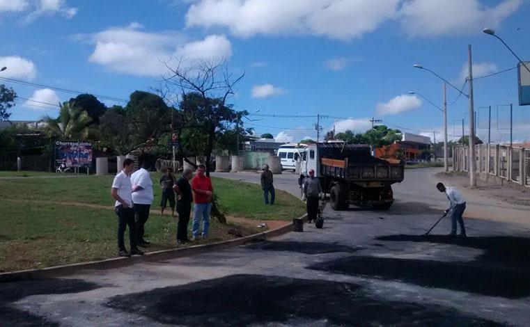 Codesel inicia operação tapa-buracos em principais vias da cidade