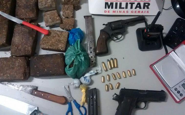 Traficante é preso portando drogas no Jardim dos Pequis II