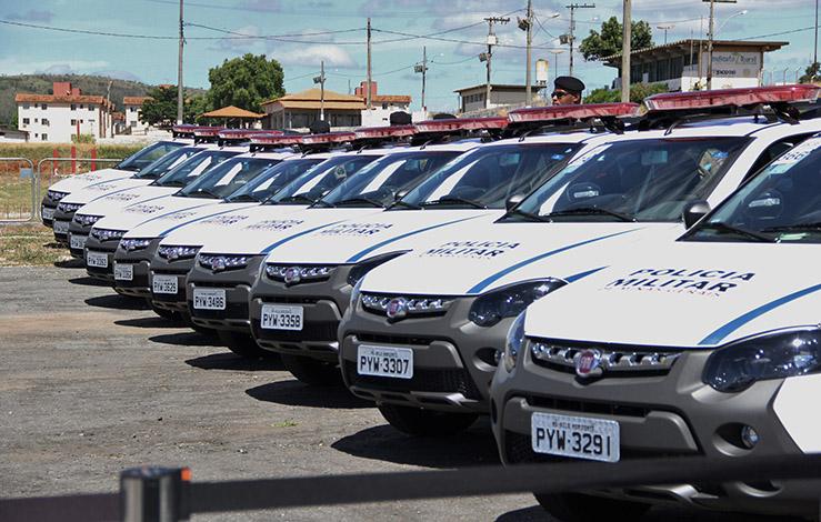 Em visita do governador, PM de Sete Lagoas recebe mais 27 viaturas