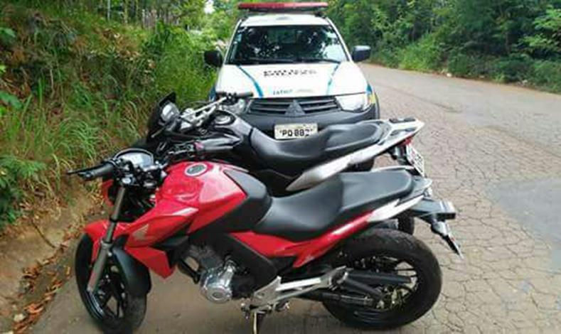 PM localiza motos roubadas escondidas no meio do mato em Matozinhos