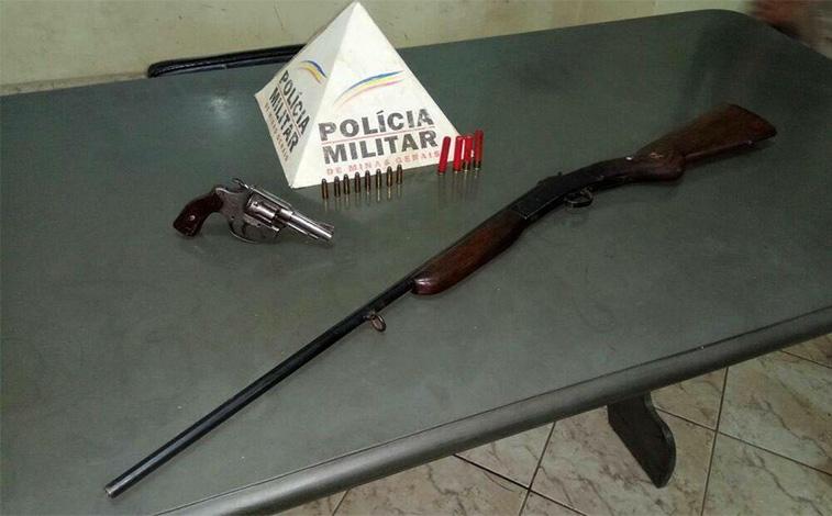 Idoso é detido em Caetanópolis por porte ilegal de armas de fogo