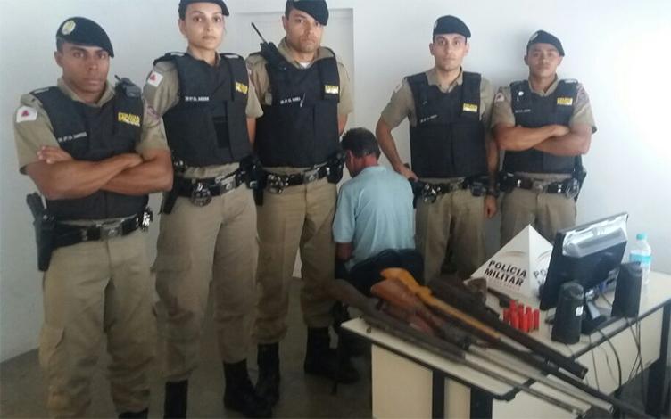Homem é preso em oficina clandestina de armas de fogo, em Sete Lagoas