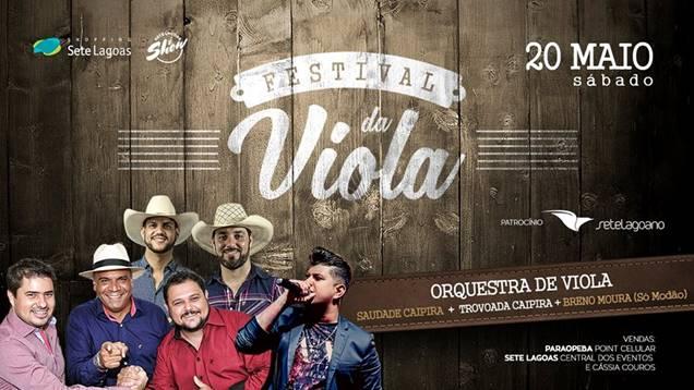 Festival da Viola traz o melhor da música caipira para Sete Lagoas neste sábado (20)