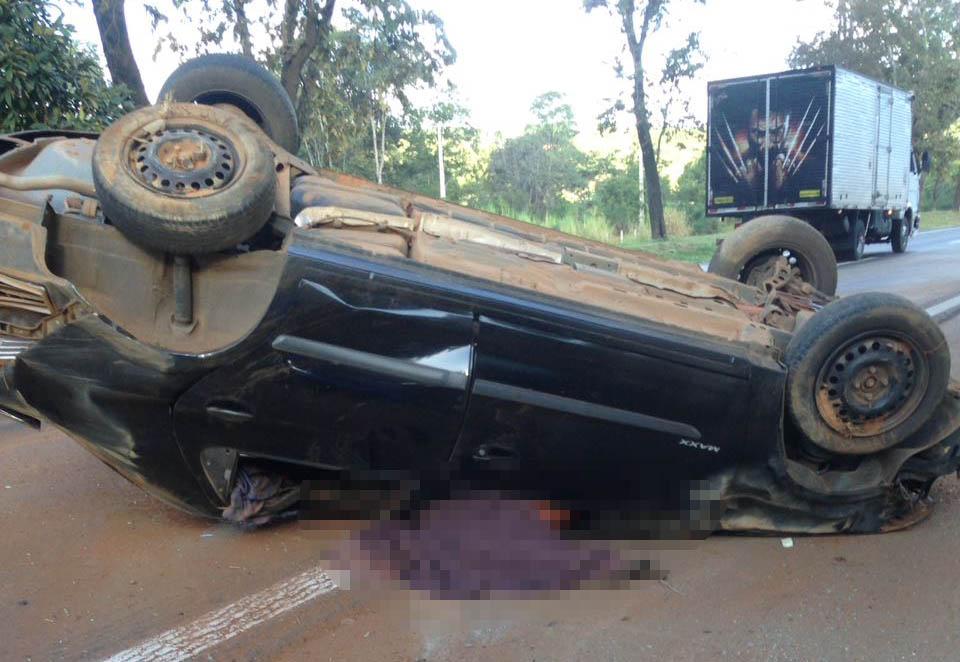 Acidente na BR 040 deixa uma pessoa morta em Caetanópolis