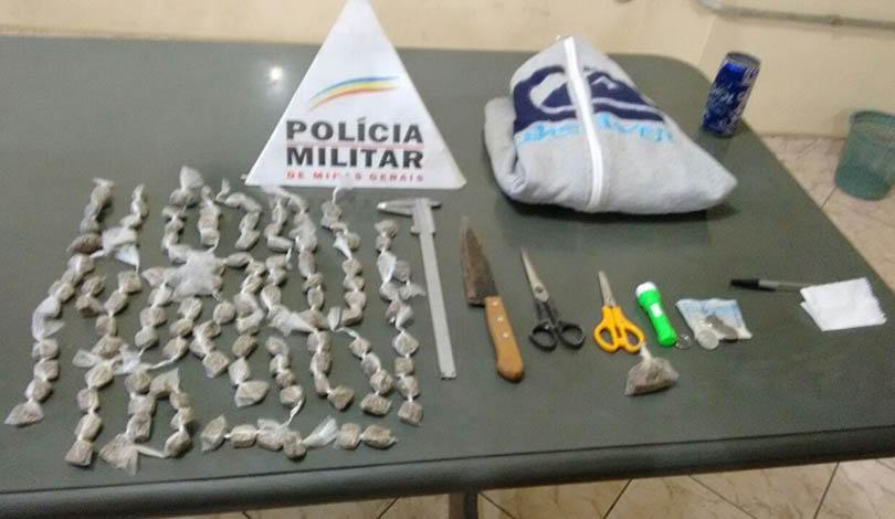 PM prende traficante e a apreende grande quantidade de drogas em Paraopeba