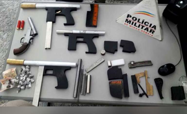 PM fecha oficina clandestina de armas e prende autor em Cachoeira da Prata
