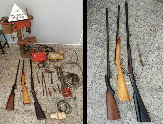 PM localiza fábrica clandestina de armas e prende suspeito em Sete Lagoas