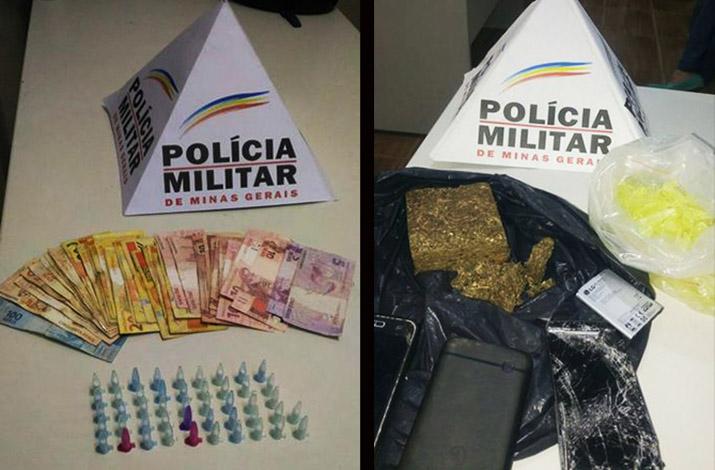 PM apreende drogas e prende traficantes em Ribeirão das Neves