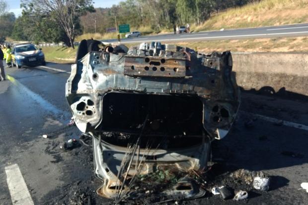 Tragédia: Mãe e filhos morrem carbonizados em acidente na BR 040