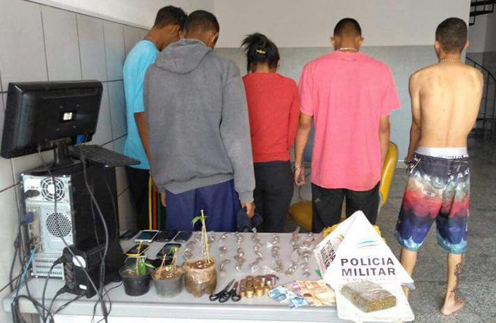 Quadrilha de traficantes é detida pela PM no Bairro Aeroporto