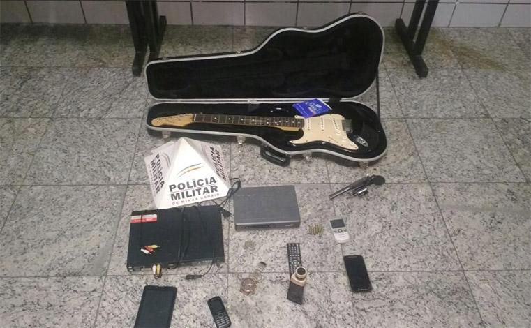 PM recupera guitarra e parte dos bens roubados em residência no JK