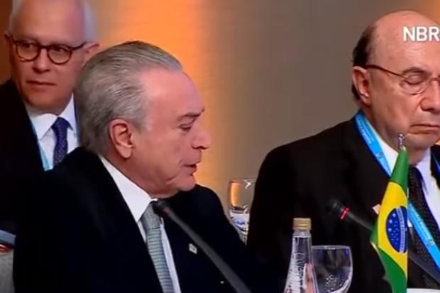 Meirelles dorme enquanto Temer discursa em reunião do Mercosul