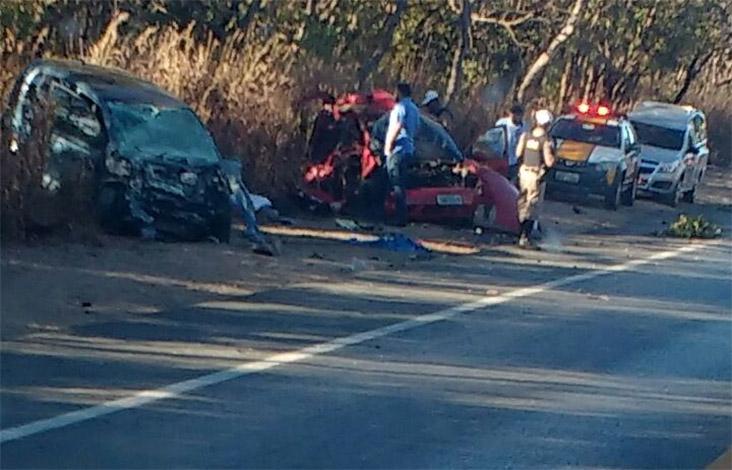 Acidente deixa quatro mortos e quatro gravemente feridos na BR 135