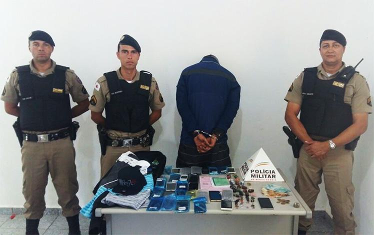 eb79d5a7e39 PM prende autores e apreende drogas e materiais de procedência duvidosa