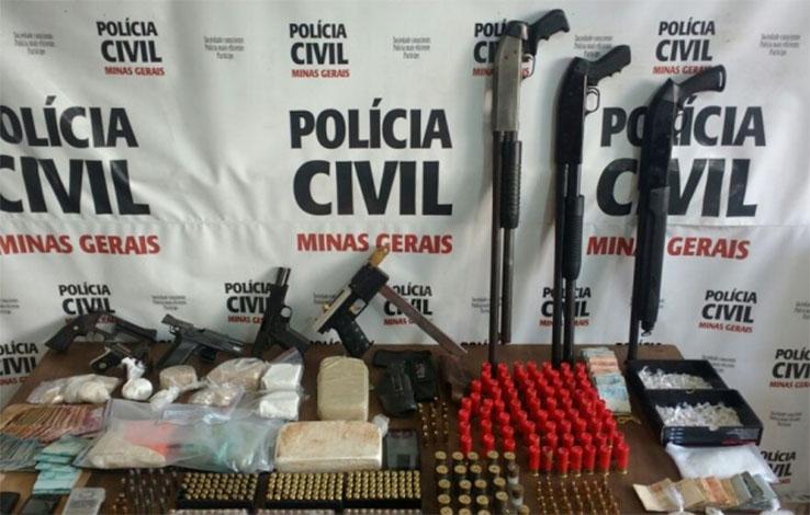 Quadrilha de traficantes é presa em Ribeirão das Neves