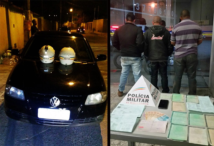 Trio é preso em Sete Lagoas com carros clonados e documentos falsos