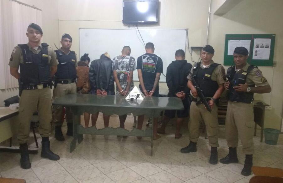 Grupo é preso em Paraopeba por tentativa de homicídio