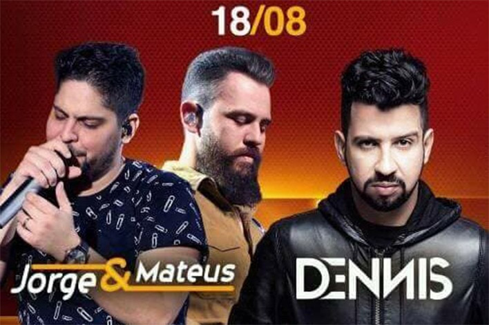 Jorge & Matheus e Dennis DJ sacodem a arena na noite desta sexta-feira